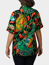 Guitar BayouWear Hawaiian Shirt Womens Back