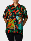 Guitar BayouWear Hawaiian Shirt Womens Front
