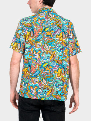 Logo-a-Gogo BayouWear Hawaiian Shirt Mens Back
