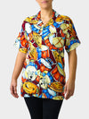 Jazz Fest Rag BayouWear Hawaiian Shirt Womens Front