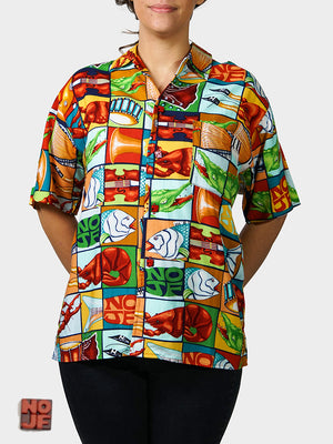 Jumble YaYa BayouWear Hawaiian Shirt Womens Front