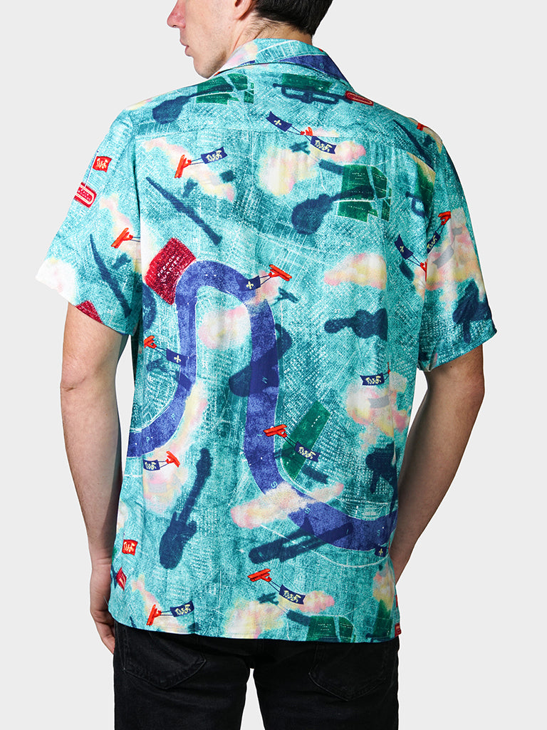 Tricentennial Map BayouWear Hawaiian Shirt Mens Back