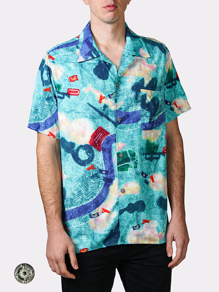 Hawaiian Shirt - Tricentennial Map Print