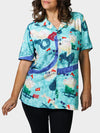 Tricentennial Map BayouWear Hawaiian Shirt Womens Front