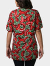 Red Beans BayouWear Hawaiian Shirt Womens Back