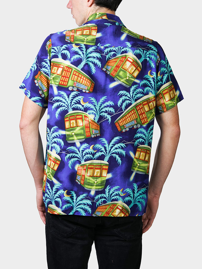 Stellar! A Streetcar's Famed Attire BayouWear Hawaiian Shirt Mens Back