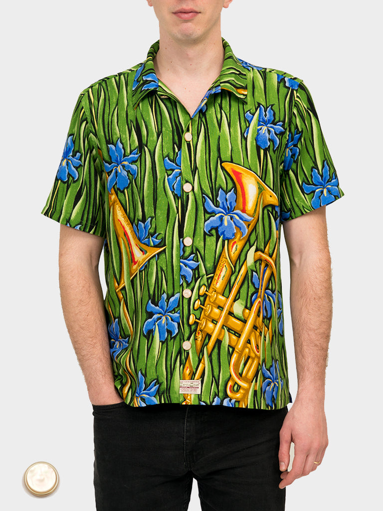 Splendor in the Brass BayouWear Hawaiian Shirt Front