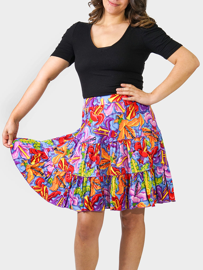 Fleur De Jazz BayouWear Swing Skirt Back