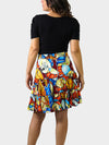 Jazz Fest Rag BayouWear Swing Skirt Back