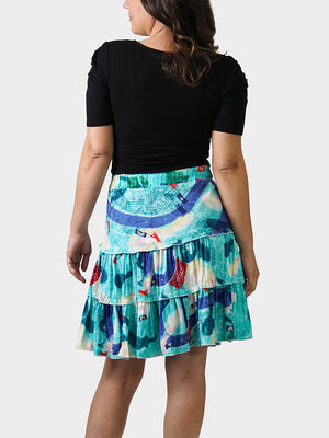 Tricentennial Map BayouWear Swing Skirt Back