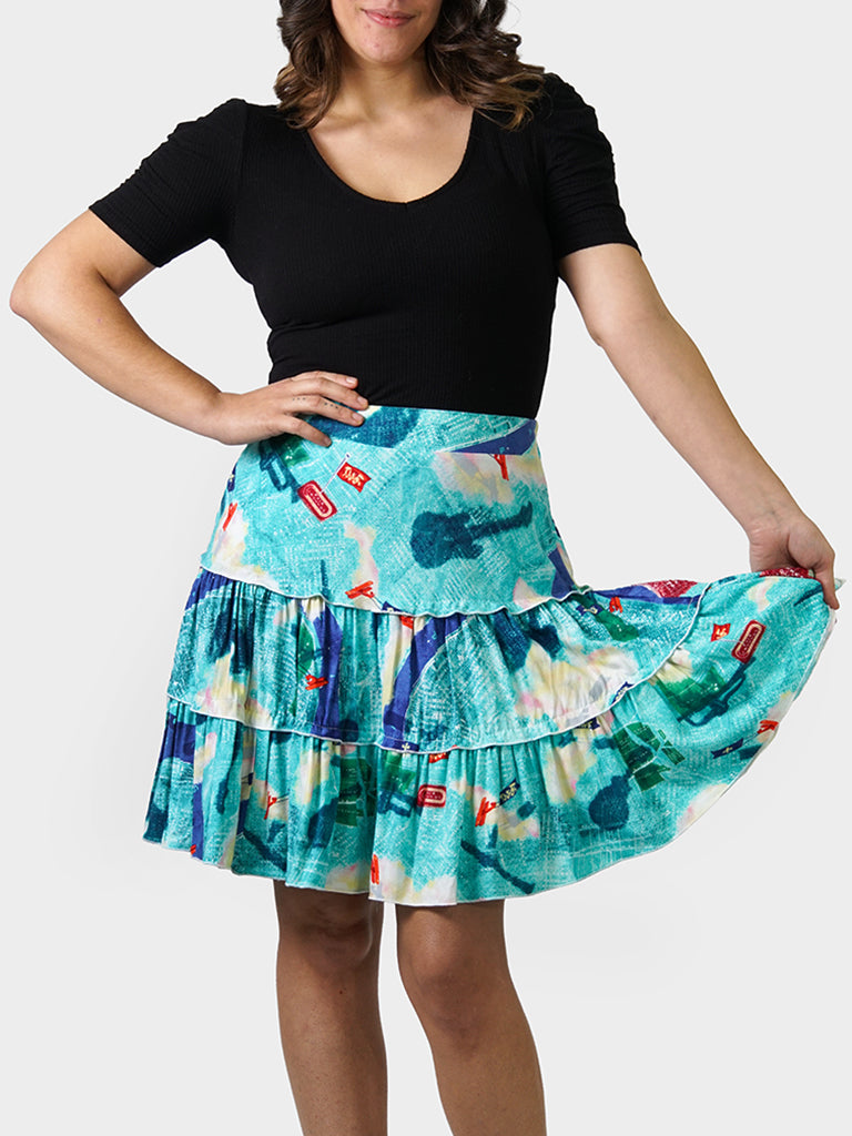 Tricentennial Map BayouWear Swing Skirt Front