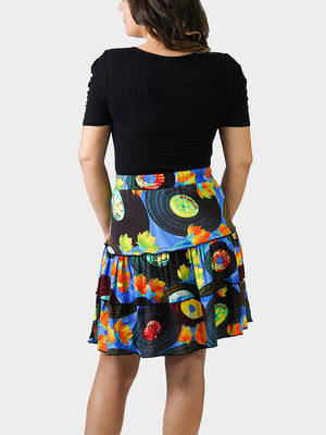 Vintage Vinyl BayouWear Swing Skirt Back