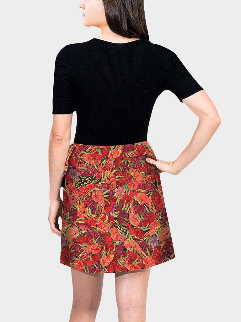 Mini Wrap Skirt - Crawfish By You