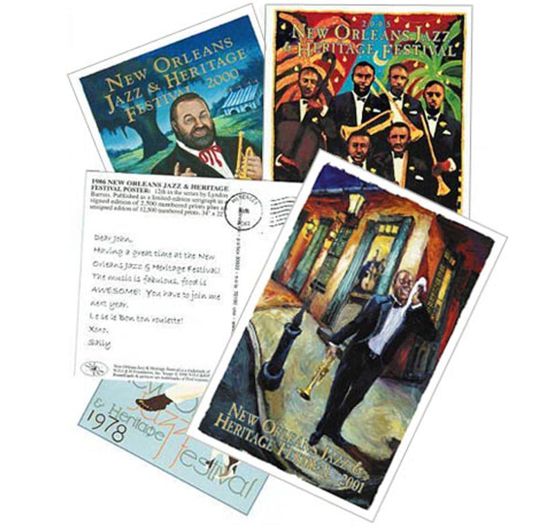 PosterCard Set Showing Front and Back of Postcards