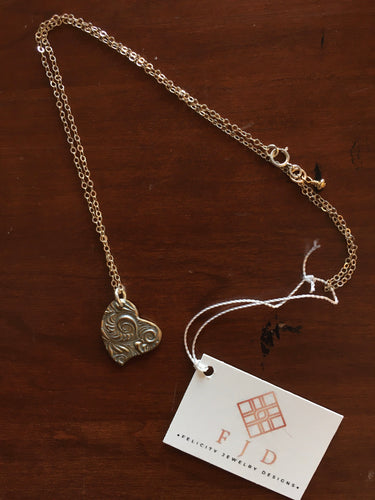Felicity Jewelry Designs- Aimee Silver Heart Necklace