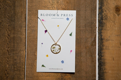 Bloom & Press- Babies Breath Necklace