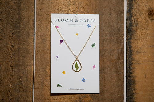 Bloom & Press- Fern Necklace