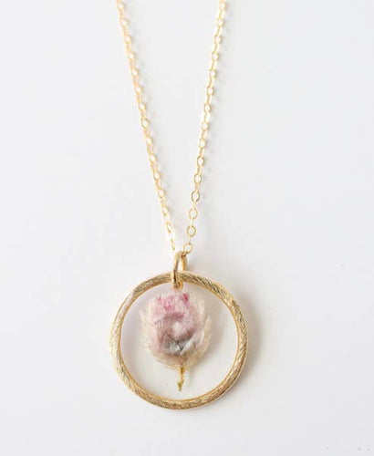 Bloom & Press- Pink Bells Necklace