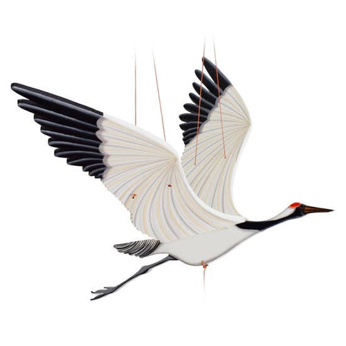 Tulia's Artisan Gallery-Crane Flying Bird Mobile