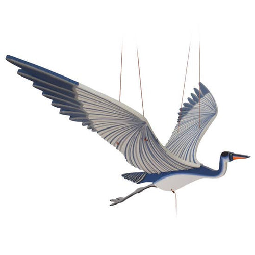Tulia's Artisan Gallery- Blue Heron Flying Mobile