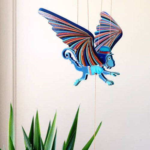 Tulia's Artisan Gallery- Winged Monkey Mobile
