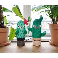 Load image into Gallery viewer, Fred the cacti plush toy, soft plant