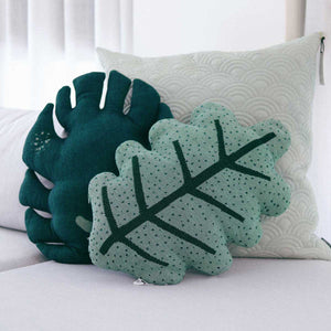 GENESIS - Decorative Leaf Throw Pillow - Monstera