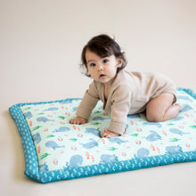 Load image into Gallery viewer, Ocean first baby blanket