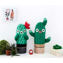 Load image into Gallery viewer, Louise the cacti plush toy, soft plant