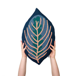 GENESIS - Decorative Leaf Throw Pillow - Calathea