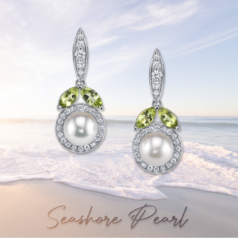 pearl earrings part of the seashore collection