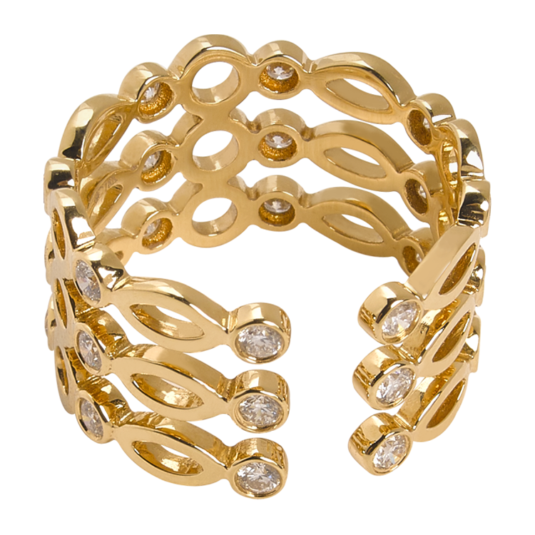 Cuff Ring Yellow Gold