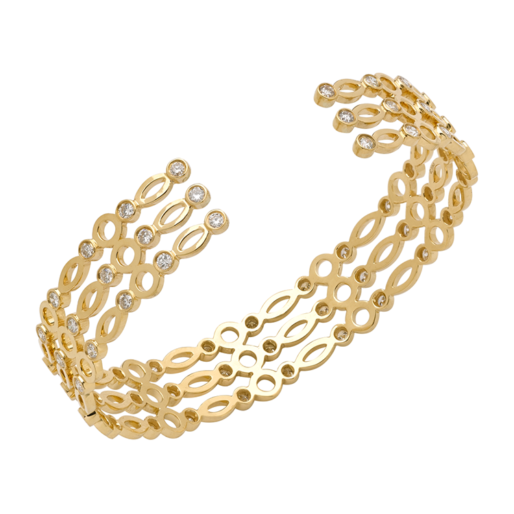 Triple Cuff Yellow Gold