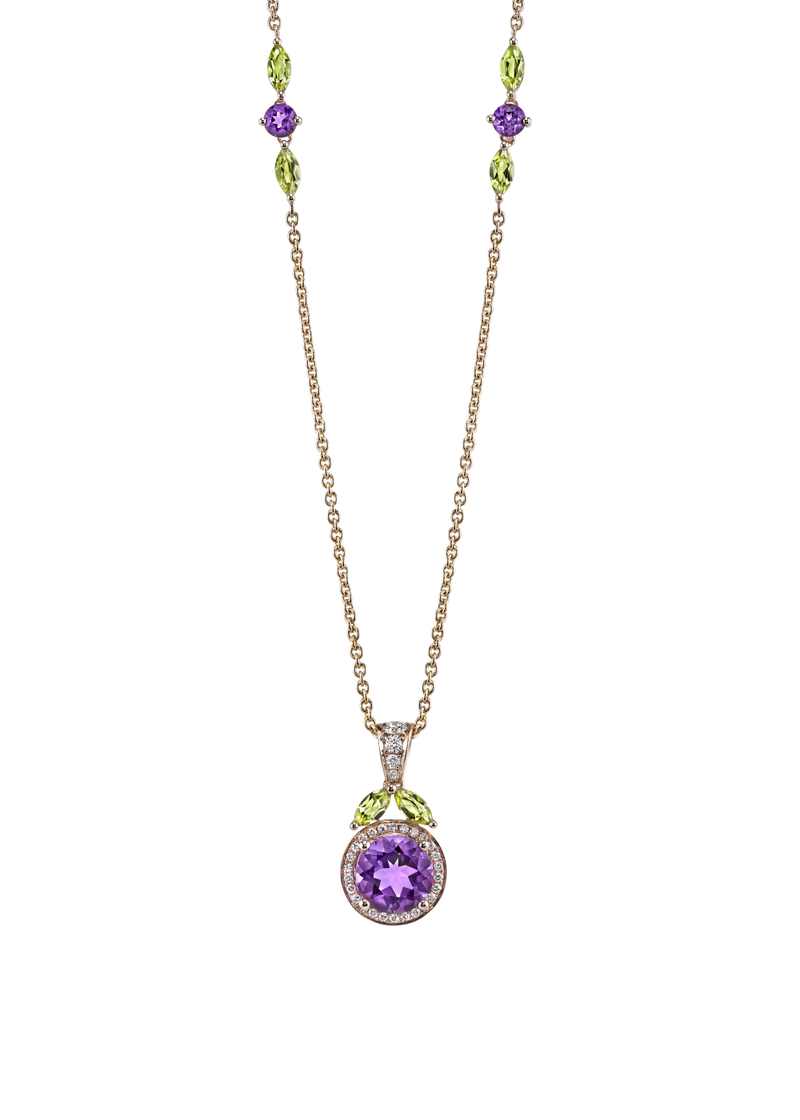 Grapeful Pendant Necklace 18""
