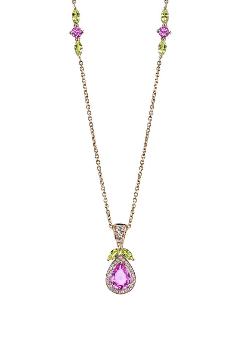 Pink Lady Necklace 18""