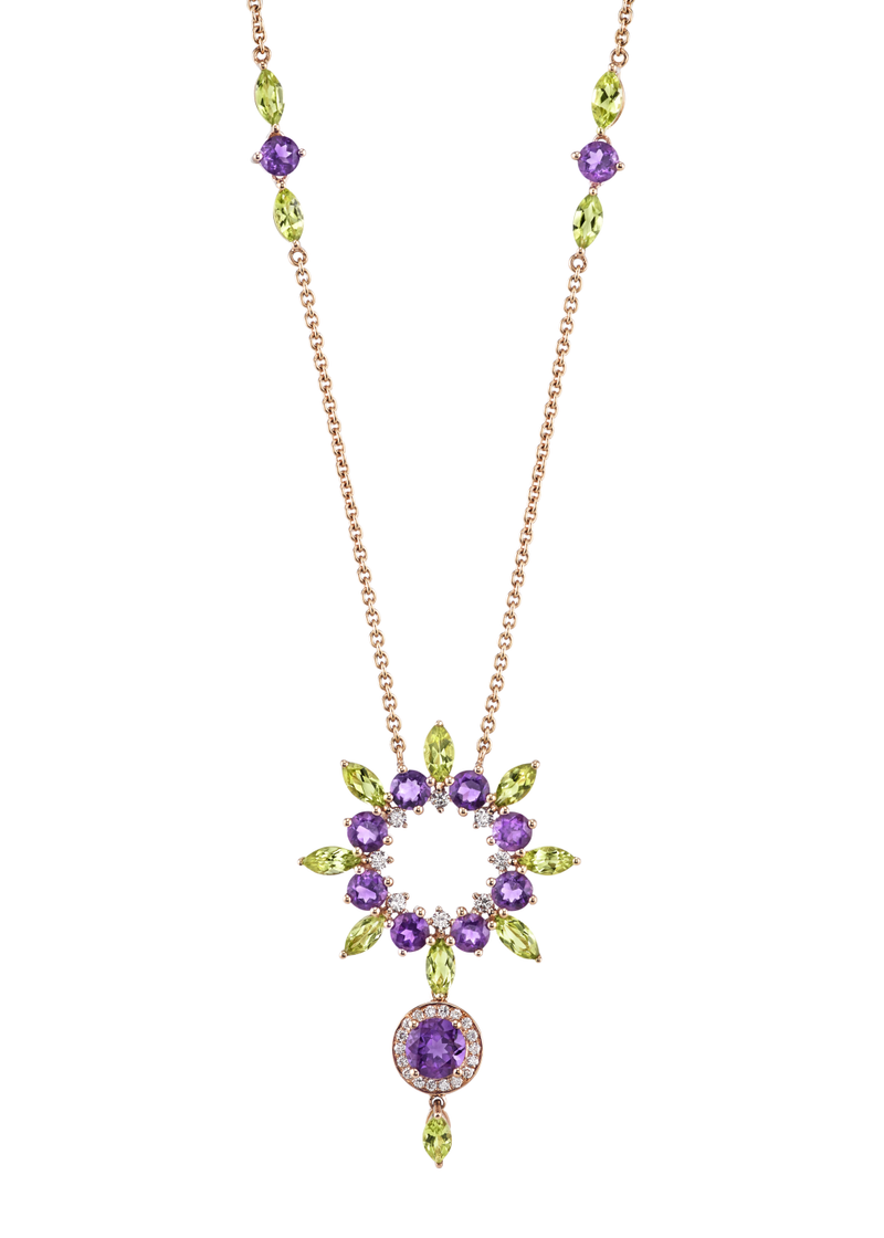 Grapeful Star Island Pendant 24""