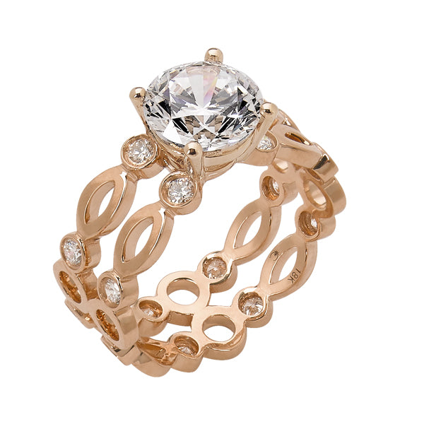 Diamond Engagement Ring Rose Gold