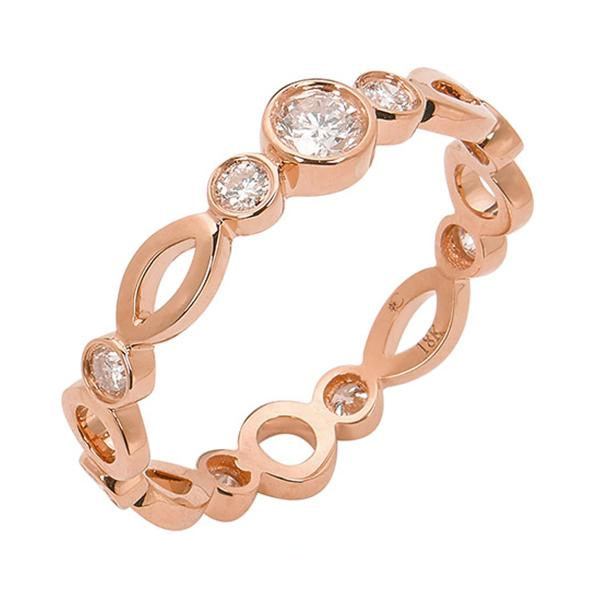 Wedding Solitaire Ring Rose Gold