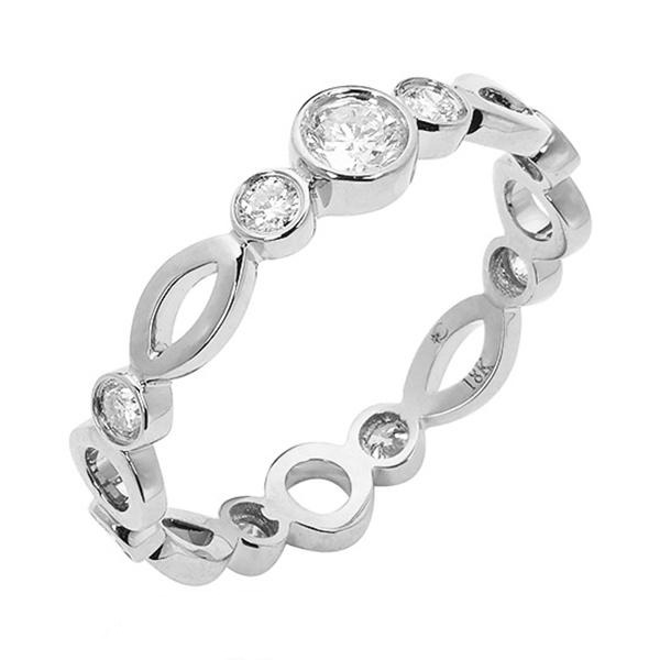 Wedding Solitaire Ring White Gold