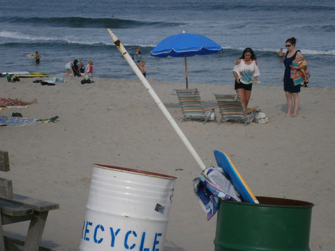 Sand Screw Umbrella in Trash