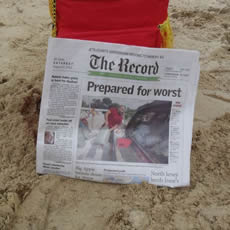 The Herald Newspaper Front Page: Prepared for the Worst Expecting Hurricane Irene
