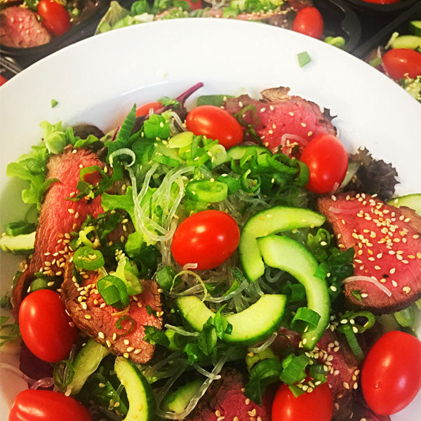 Thai Beef Salad from Absolute Cravings. Gluten and Dairy Free. Paleo