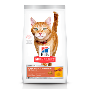 Hills Science Diet Alimento Gatos Hairball Control Light 3.2 kg Croquetas Pienso