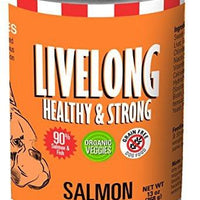 LiveLong Healthy Strong Salmon Sweet Potato Can Dog Food Made with 90% Fish, 13 oz, 12 Cans by LiveLong Healthy Strong
