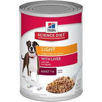 Hill's Science Diet Alimento Perros Adulto Light Lata 370 gr Alimento Humedo