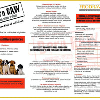 Born RAW - Alimento Natural Para Perro 1 Kg equivale a 4 Kg