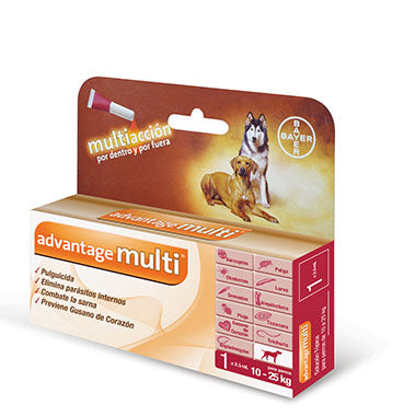 Bayer Pulgicida Desparacitante Perros Advantage Multi