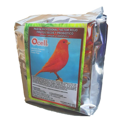 Ocell Alimento Aves Canarias Pasta Profesional Factor Rojo 1kg