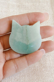 Green Aventurine Cat GA3
