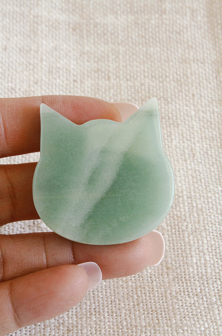 Green Aventurine Cat GA5